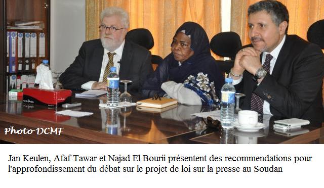 Une nouvelle loi sur la presse au Soudan.