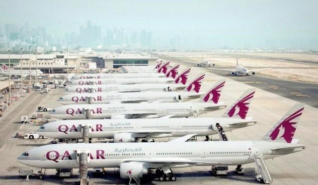 Doha 8 mai 2017, Qatar Airways sponsorise la FIFA