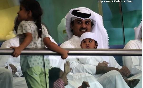 Tamim al Thani émir du Qatar, mariages et descendances