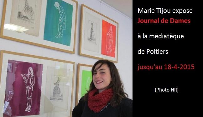 Marie Tijou expose Journal de Dames