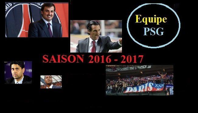 PSG contre Caen fin de la saison 2016 – 2017