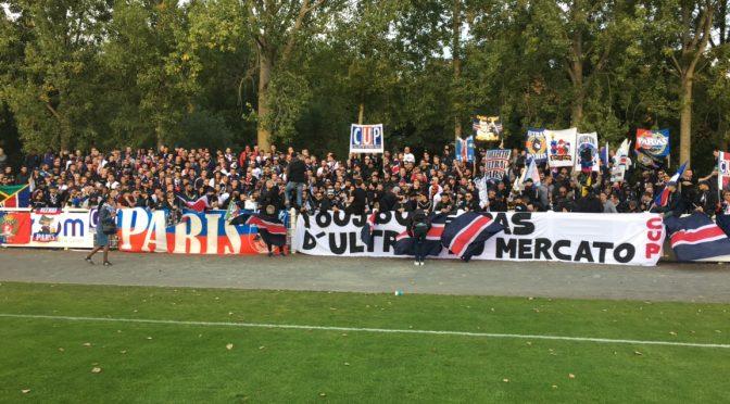Les Ultras avec le PSG B en CFA à Chartres