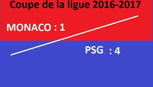 PSG – Monaco finale Coupe de la ligue