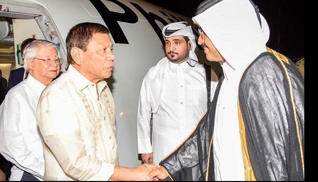 Le président philippin Rodrigo Duterte au Qatar
