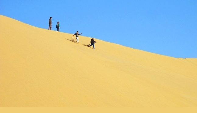 Doha 20 avril 2017, Qatar's Singing Sand Dunes