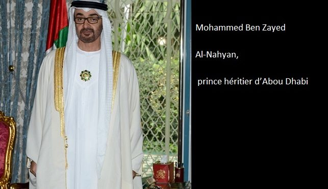 Mohammed Ben Zayed Al-Nahyan, prince héritier d'Abou Dhabi