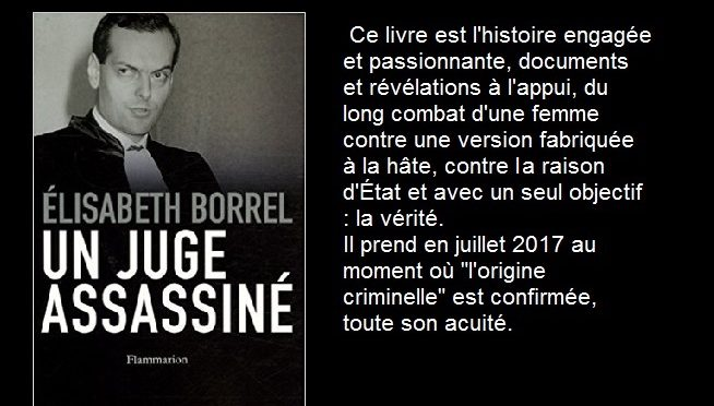 Affaire Bernard Borrel, origine criminelle confirmée