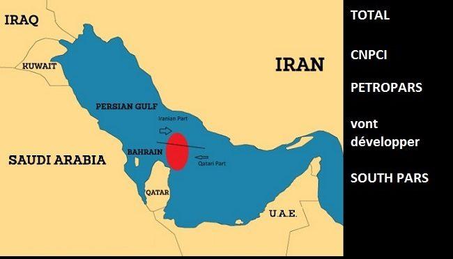 Le Qatar paie ses relations avec Total qui va travailler en Iran